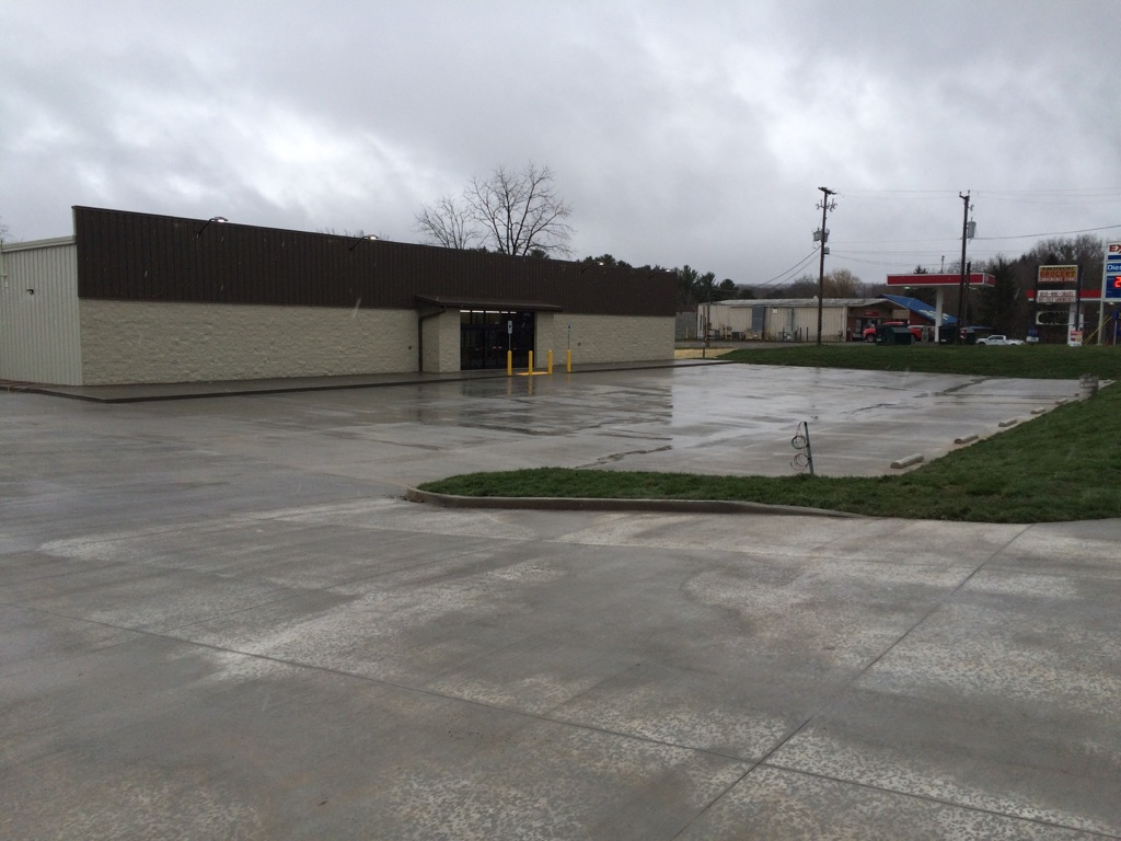 outside 3, dollar store, Ghent WV, shopping, supermarket, retail, commercial, commercial construction