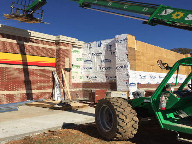 exterior view 2, loves, Lenior City tn, gas station, shopping, supermarket, retail, commercial, commercial construction